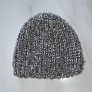 Beautiful Grey knitted winter hat